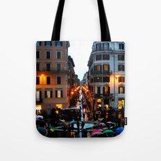 Rain in Rome in Colour Tote Bag