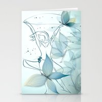 Le positive design dinamique du madame butterfly Stationery Cards
