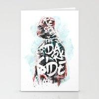 Respect the Dark Side Vader Stationery Cards