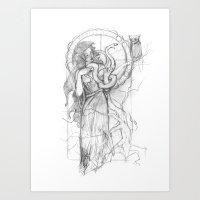 Athena Doesn't Like Gorg… Art Print