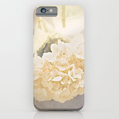 White Hydrangea Slim Case iPhone 6s