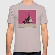 No205 My Roman Holiday minimal movie poster Mens Fitted Tee Cinder SMALL