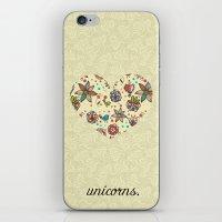 Black Unicorn iPhone & iPod Skin
