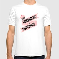 Baradicks And Cupcakes Mens Fitted Tee White SMALL