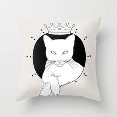 Who's The Queen Throw Pillow