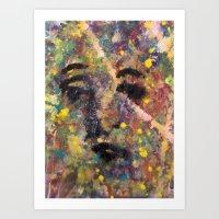 SADDEST FACE Art Print