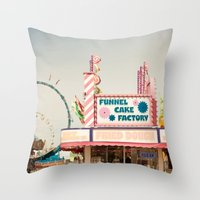 Carnival Funnel Cake Factory  Throw Pillow