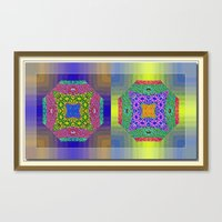 Twin Mandalas II Canvas Print