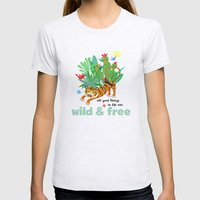 Wild And Free Womens Fitted Tee Ash Grey SMALL