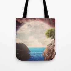 Where the moon meets the sea Tote Bag