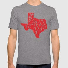 The Lone Star State - Texas Mens Fitted Tee Tri-Grey SMALL