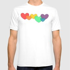 Love is a Rainbow White SMALL Mens Fitted Tee