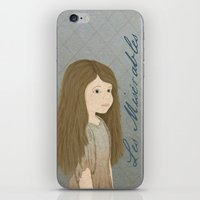 Portrait of Cosette from Les Misérables iPhone & iPod Skin