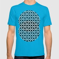 Abstract 3d grainy Mens Fitted Tee Teal SMALL