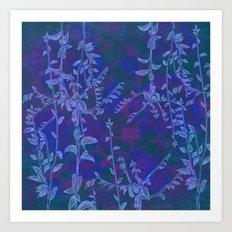 blue botanics Art Print