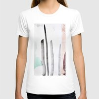 MINIMAL Womens Fitted Tee White SMALL