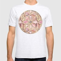 Geometric Gilded Stone Tiles in Blush Pink, Peach and Coral Mens Fitted Tee Ash Grey SMALL