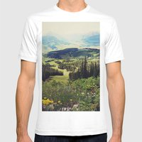 Down in the Valley Mens Fitted Tee White SMALL