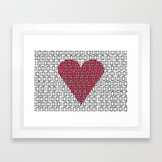 digital love Framed Art Print