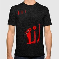 The Masque Of The Red De… Mens Fitted Tee Tri-Black SMALL