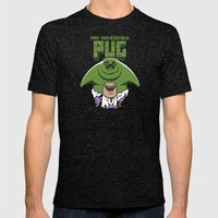 The Incredible Pug Mens Fitted Tee Tri-Black SMALL
