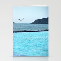 Swimming Pool Gull Stationery Cards