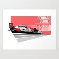 Gerhard Berger - 1992 Mo… Art Print