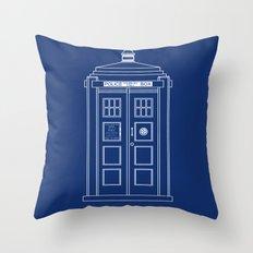 TARDIS Blueprint - Doctor Who Throw Pillow
