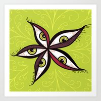 Tired Green Eyes Flower Art Print