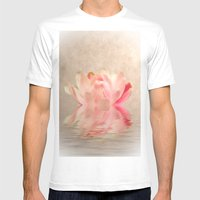 Waterlily Mens Fitted Tee White SMALL