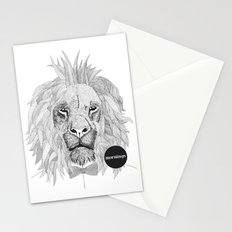 Asleep lion Stationery Cards
