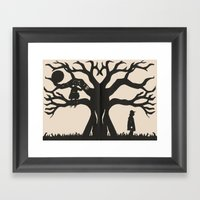 Hiding In The Branches Framed Art Print