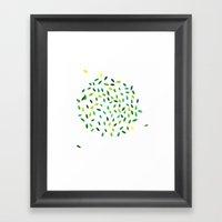 Leaf Ball Framed Art Print