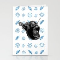 Ms Anglerfish Stationery Cards