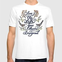Live the life you have imagined - Thoreau Mens Fitted Tee White SMALL