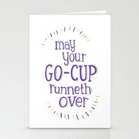 Go-Cup (type only) Stationery Cards