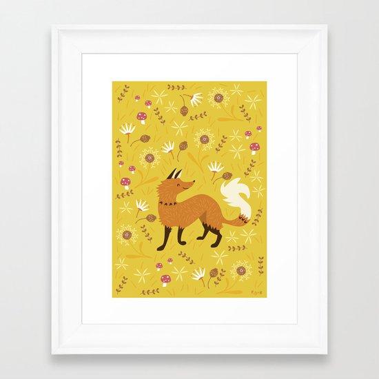 Cute as a Fox Framed Art Print