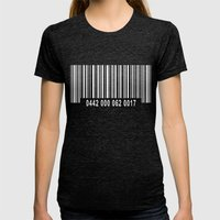 Barcode #1 Inverse Womens Fitted Tee Tri-Black SMALL