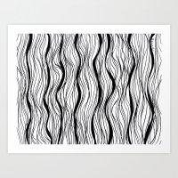 BLACK STRIPES Art Print