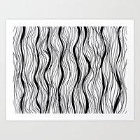 BLACK STRIPES Art Print