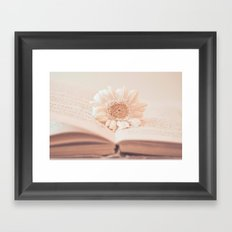 Serenity Of Books Framed Art Print