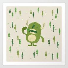 the tree muncher Art Print