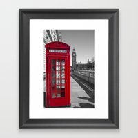 Big Ben And Red Telephon… Framed Art Print