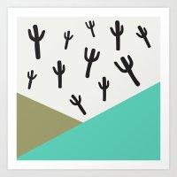 Cactus – Minty Art Print