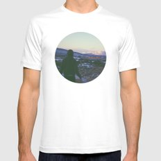 Looking Out To Snowdon White SMALL Mens Fitted Tee