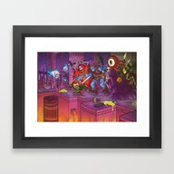 Framed Art Print featuring Perils Of Delver by SamCube