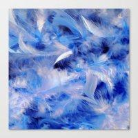 Blue Plumes Canvas Print