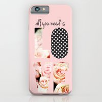 iPhone & iPod Case featuring Love in Blush by Sara Berrenson