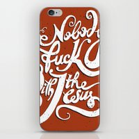 Nobody Fucks With The Je… iPhone & iPod Skin