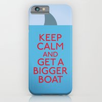 iPhone Cases featuring Get a bigger boat by John Tibbott